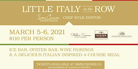 Little Italy on the Row with Chef Kyle Panton - March 5, 2021 tickets