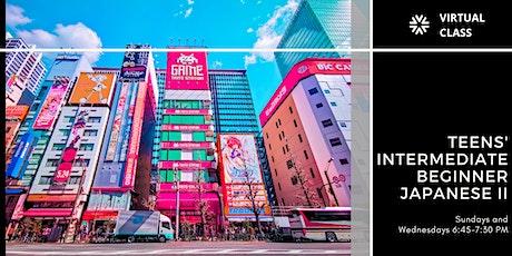 Teens' Intermediate Beginner Japanese II tickets