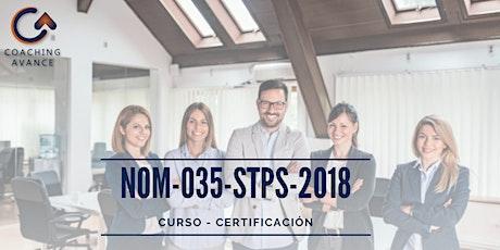 Curso - Certificación NOM 035 boletos