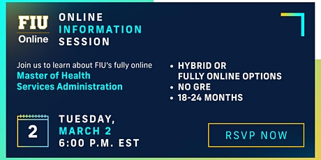 FIU Online Master of Health Services Administration - Information Session tickets