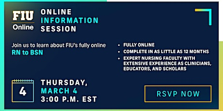 FIU Online RN to BSN - Information Session tickets