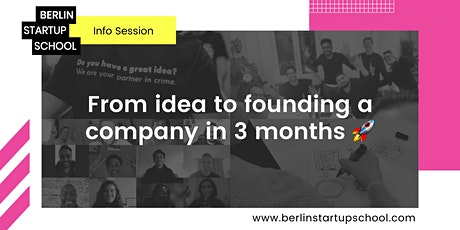 From idea to founding a company in 3 months biglietti