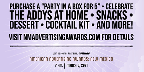 """AAF New Mexico ADDYs """"Party in a Box for 5"""" tickets"""