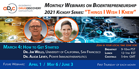 "ADDC Webinar Series on Bioentrepreneurship: ""How to Get Started"" tickets"