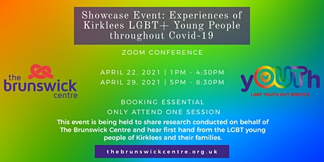 Showcase event - experiences of Kirklees LGBT young people throughout Covid tickets