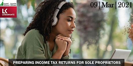Preparing Income Tax Returns for Sole Proprietors tickets
