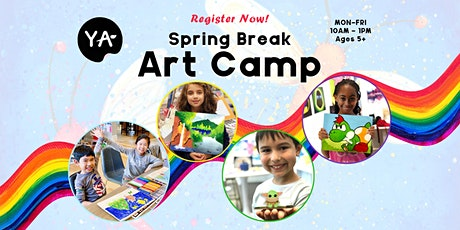 Spring Break Adventure Art Camp | APR 12 - APR 16| 10AM - 1PM (Ages 5+) tickets