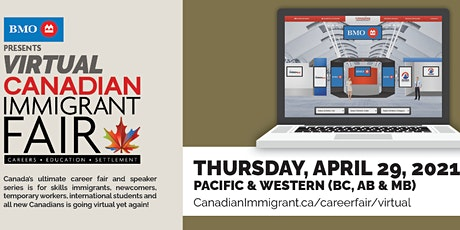 Canadian Immigrant Virtual Fair: British Columbia, Pacific & Western Canada tickets