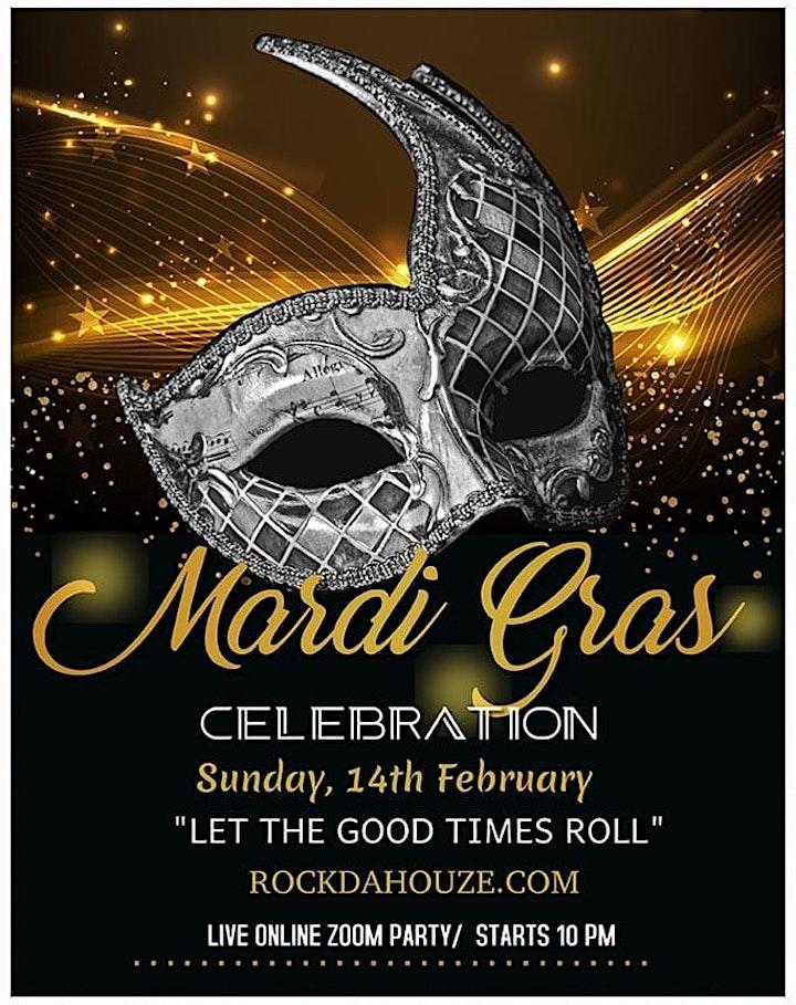 **FREE** - Mardi Gras Carnival Celebration - Online Dance Party image