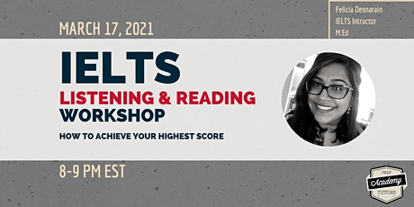 IELTS Listening & Reading Workshop: How to Achieve Your Highest Score tickets