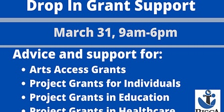 Grant Support- Drop In on Zoom tickets