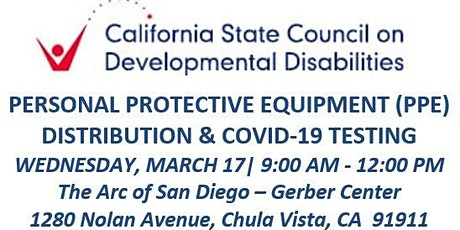 SCDD PPE  & COVID-19 Testing for Families - The Arc - Gerber Center tickets