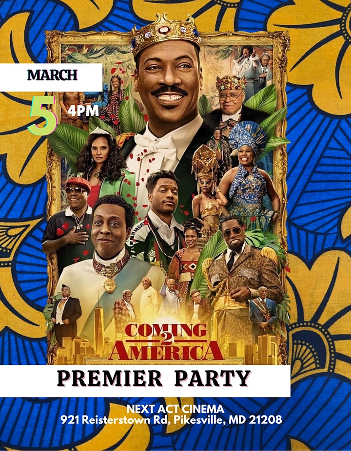 COMING 2 AMERICA: Private Premier Party image