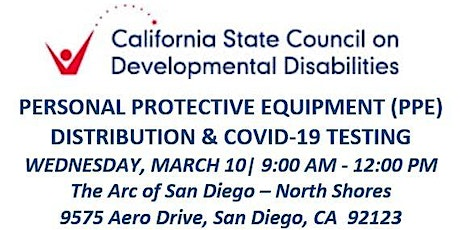 SCDD PPE  & COVID-19 Testing for Families - The Arc - North Shores tickets
