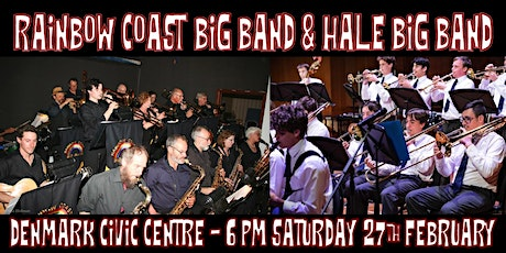 Rainbow Coast Big Band and Hale Big Band swing Denmark Civic Centre tickets