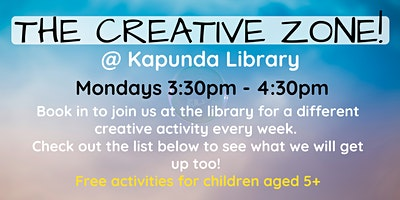 The Creative Zone @ The Kapunda Library