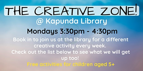 The Creative Zone @ The Kapunda Library tickets