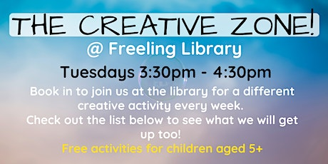 The Creative Zone @ The Freeling Library tickets