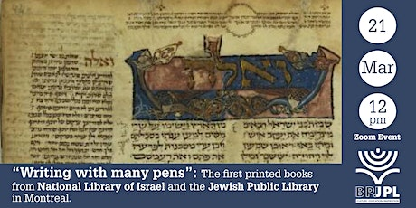 """""""Writing with Many Pens"""": The first printed  books tickets"""