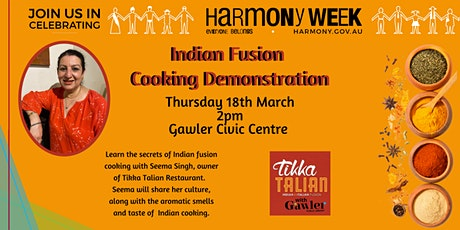Indian Fusion Cooking Demonstration tickets