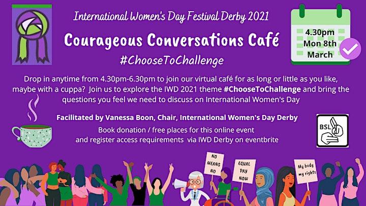 Courageous Conversations Café for International Women's Day image