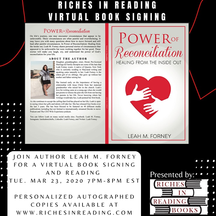 Book Signing and Reading with Leah M. Forney image