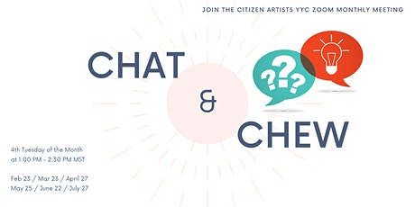 CHAT & CHEW - Monthly Zoom Gatherings tickets