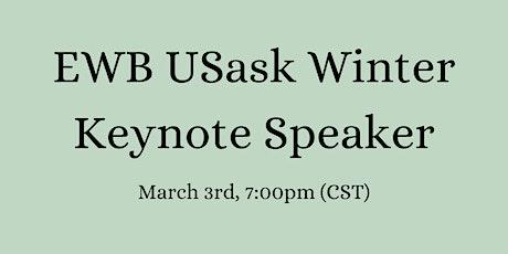 EWB USask Winter Keynote Speaker tickets