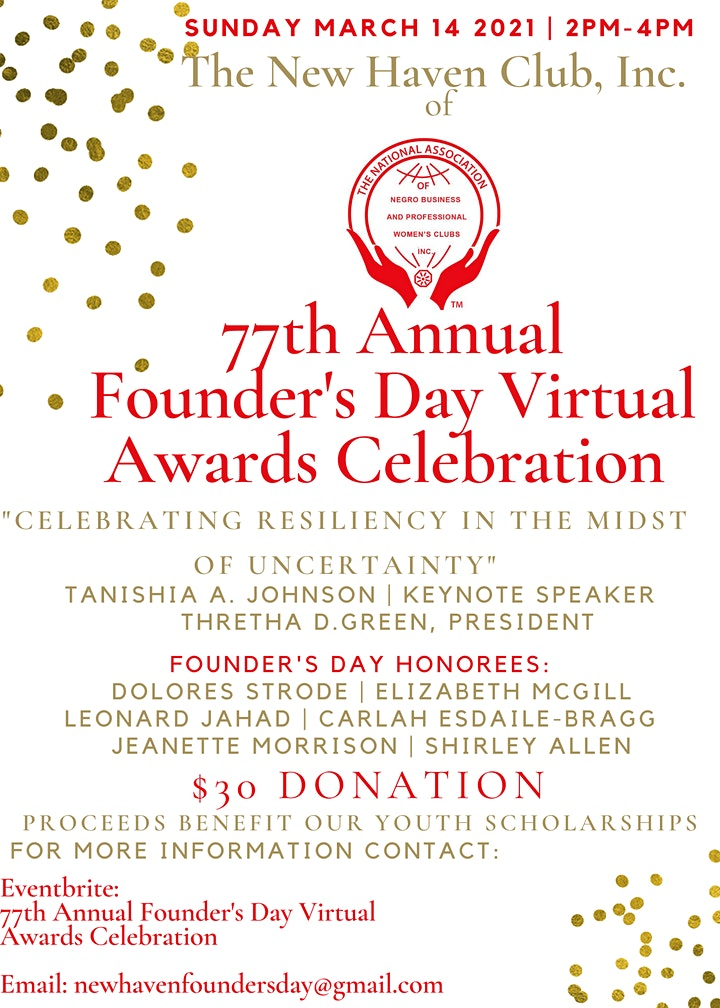 77th Annual Founder's Day Virtual Awards Celebration image