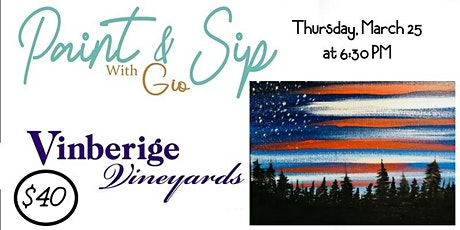 Paint & Sip With Gio - Vinberige tickets