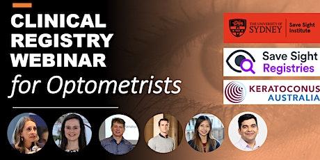 Clinical Registry - Information Webinar for Optometrists tickets