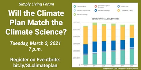 Will the Climate Plan Match the Climate Science? tickets