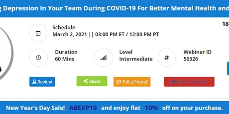 Recognizing Depression In Your Team During COVID-19 For Better Mental Healt tickets