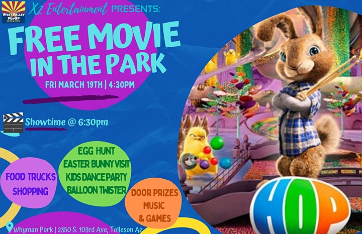A FREE Spring PopUP Movie in the Park, Food Trucks and More - Fri  3/19 image