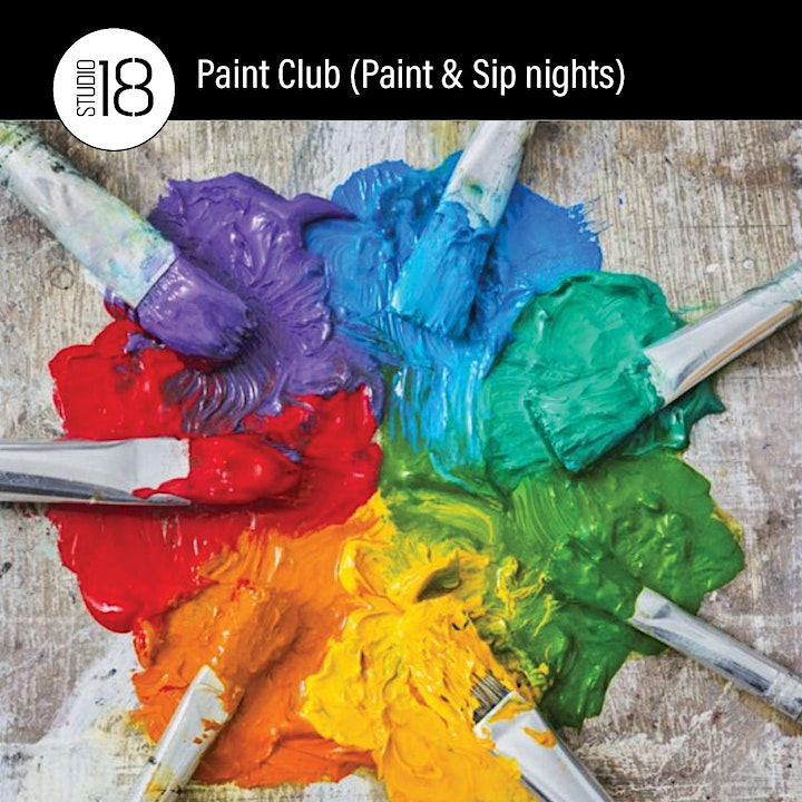 Paint Club (Paint and Sip) Nights image
