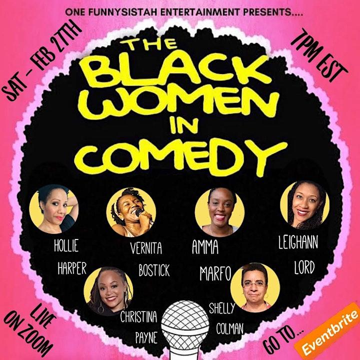 Black Women in Comedy Laff Fest Live on Zoom! image