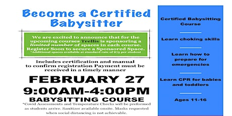 Strathmore Babysitters Course tickets