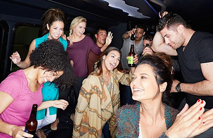 Hip Hop Party Bus with Top Self Unlimited Drinks image
