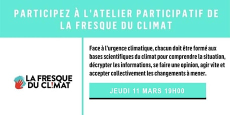 Atelier La Fresque du Climat - Saint-Cloud billets