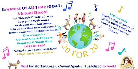 Greatest of All Time (GOAT!) Virtual Disco tickets