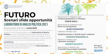 Laboratorio di analisi politica 2021. FUTURO Scenari sfide opportunità biglietti