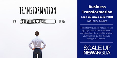 Business Transformation  (Lean Six Sigma Yellow Belt) SUNA Masterclass Tickets