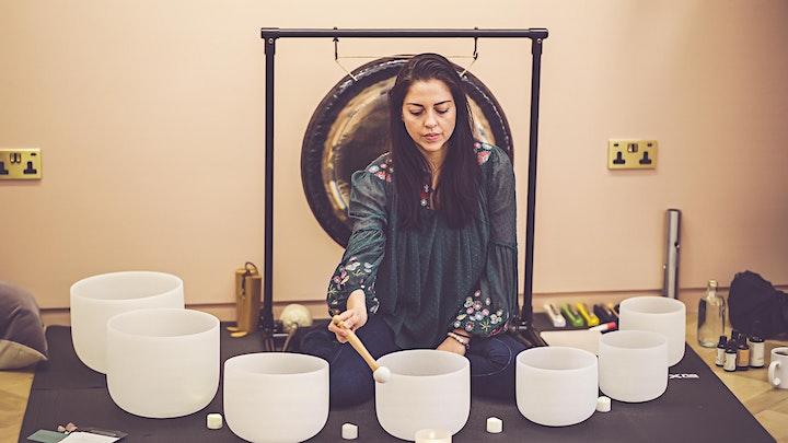 New Moon crystal and sound bath meditation image