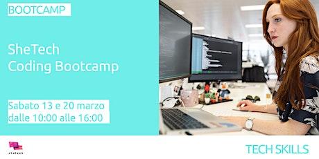 SheTech Coding Bootcamp biglietti