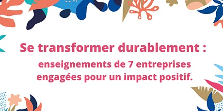 Webinaire - Se transformer durablement billets