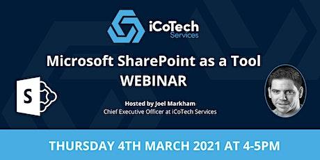 Microsoft SharePoint as a Tool (Webinar) Tickets