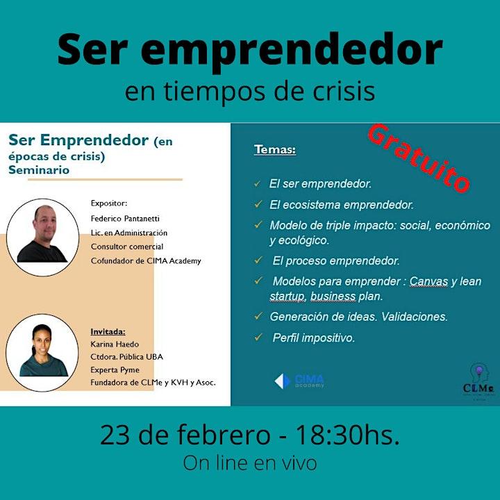 Imagen de Seminario Ser emprendedor (en épocas de crisis)