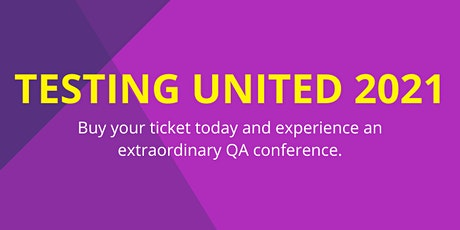 Testing United 2021 Conference tickets