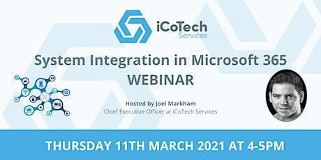 System Integration in Microsoft 365 (Webinar) biglietti