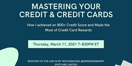 ZBB 2021: Mastering Your Credit & Credit Cards tickets